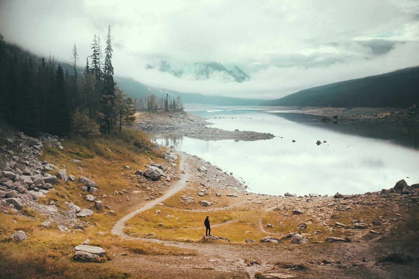 Medicine Lake, Jasper National Park, Kanada