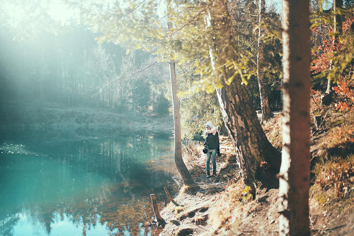 Błękitne, tudzież turkusowe jeziorko