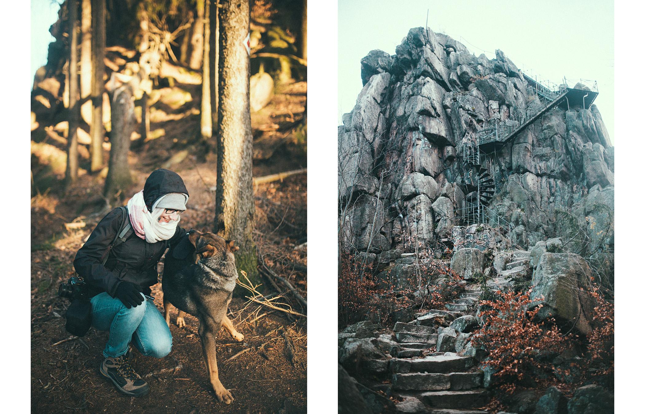Rudawy Janowickie, widok na Sokolik Wielki z dołu