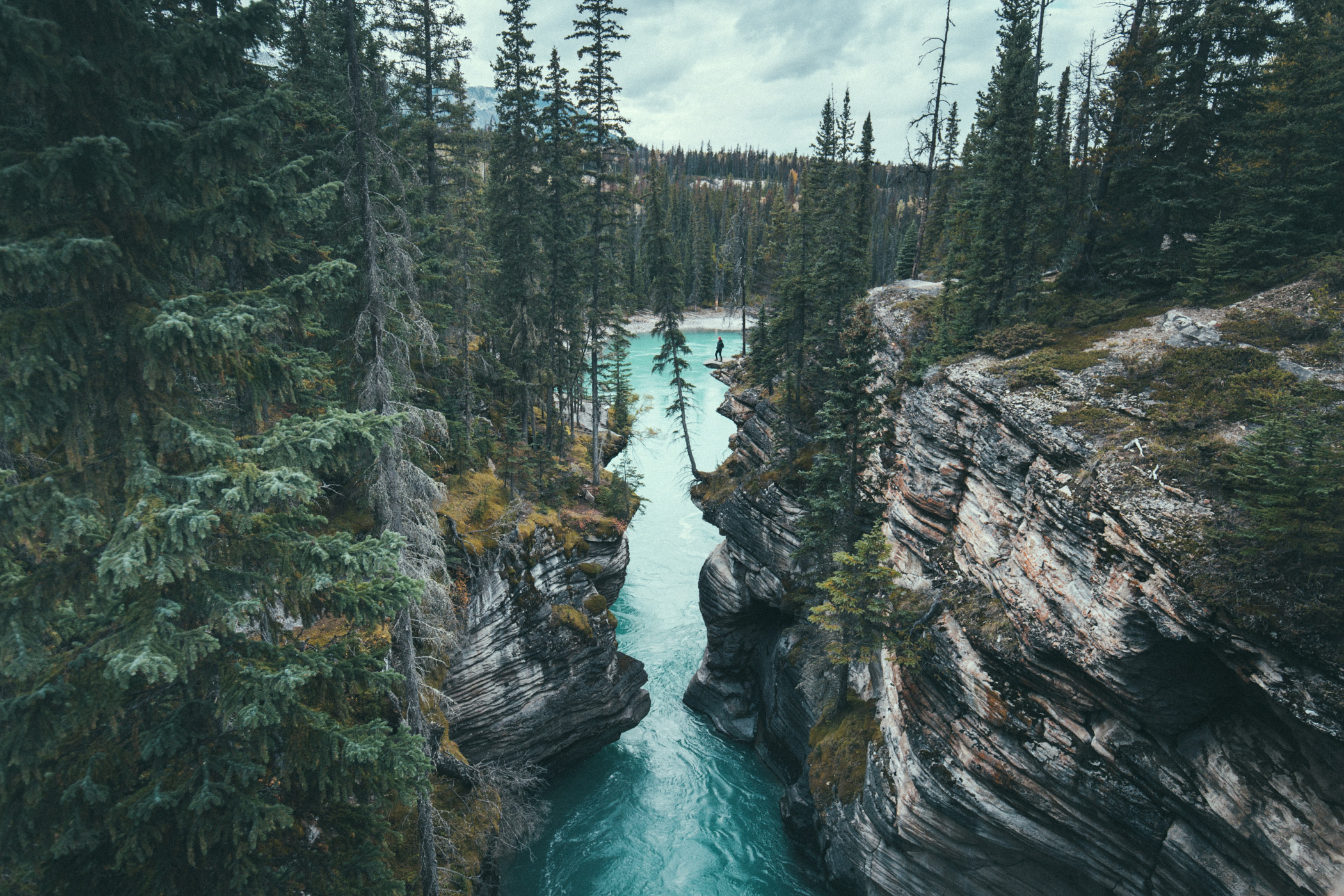 Athabasca Falls, Icefields Parkway, Kanada