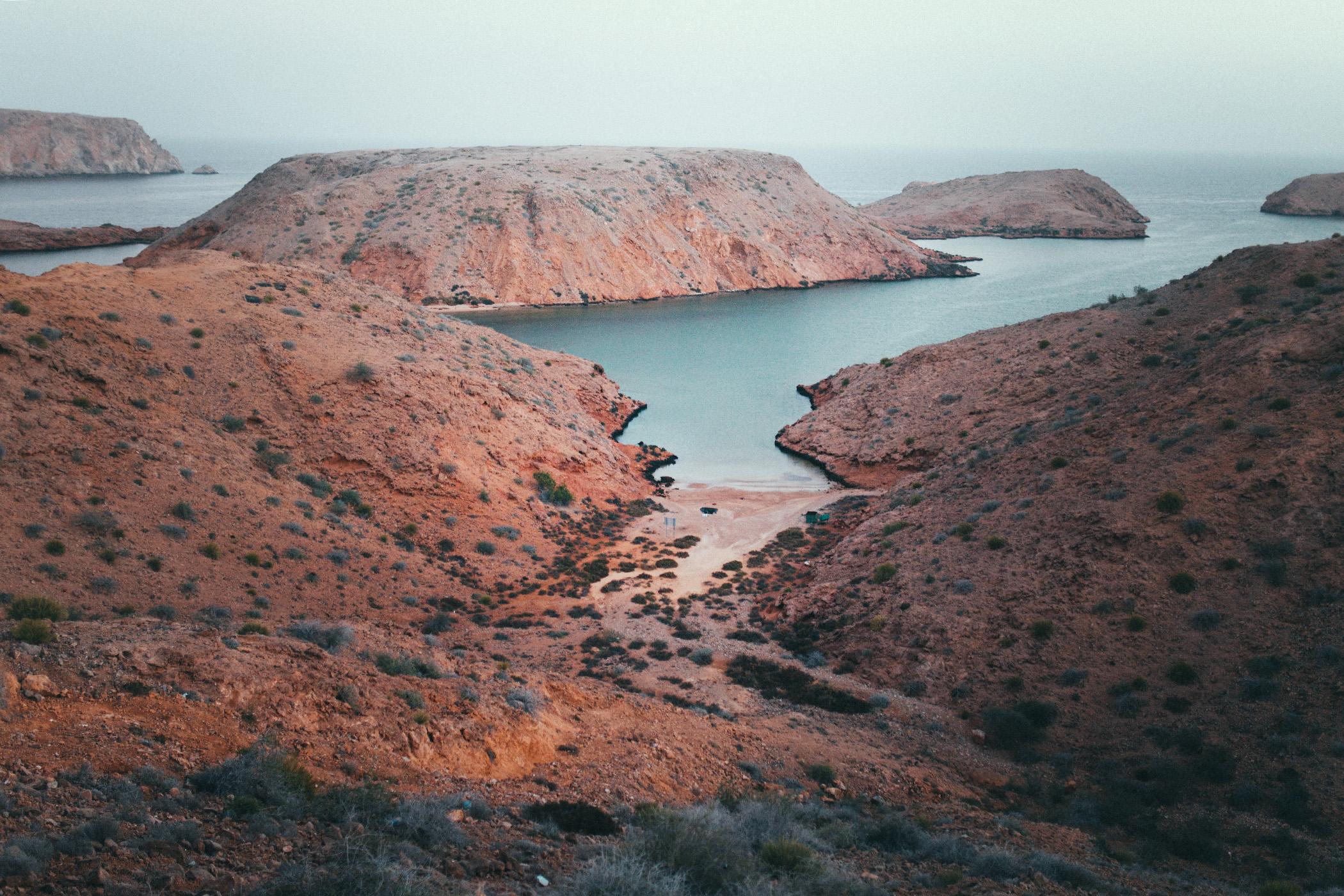 Bandar Al Khairan, Oman, widok z głównego punktu widokowego