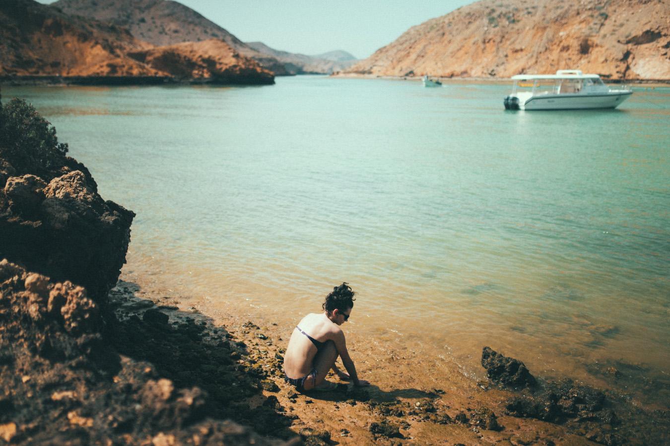 Bandar Al Khairan, Oman, ukryta zatoczka