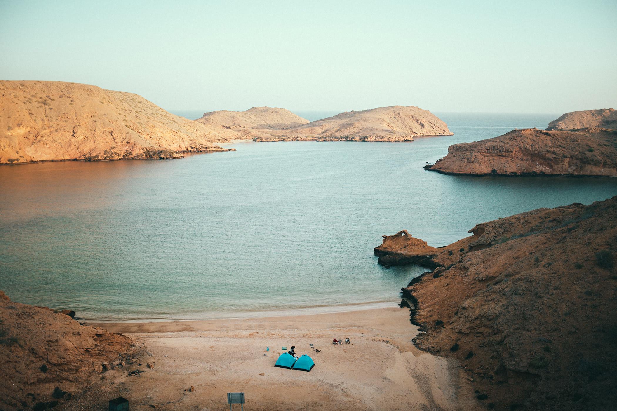 Bandar Al Khairan, Oman, ukryta plaża