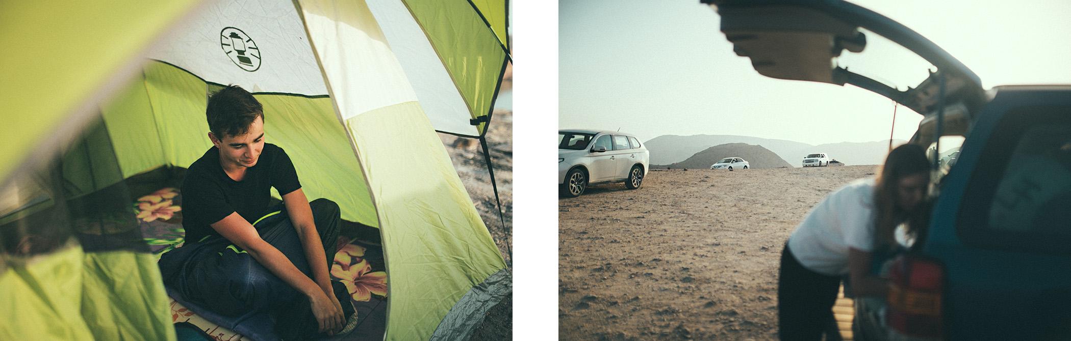Kemping w Omanie
