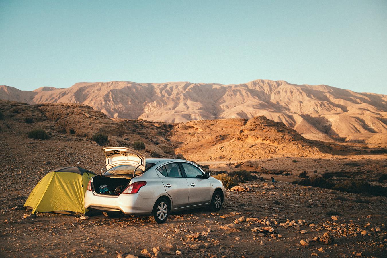 camping w Omanie