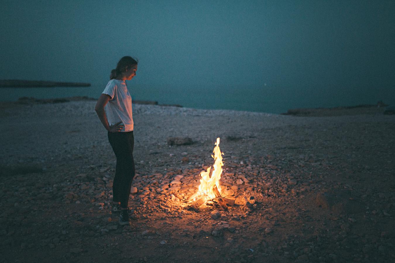 ognisko w Omanie