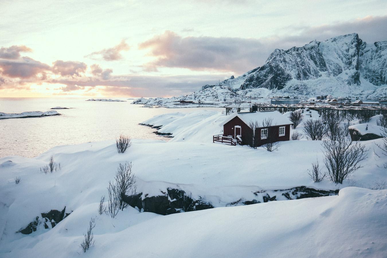 Lofoty, zima