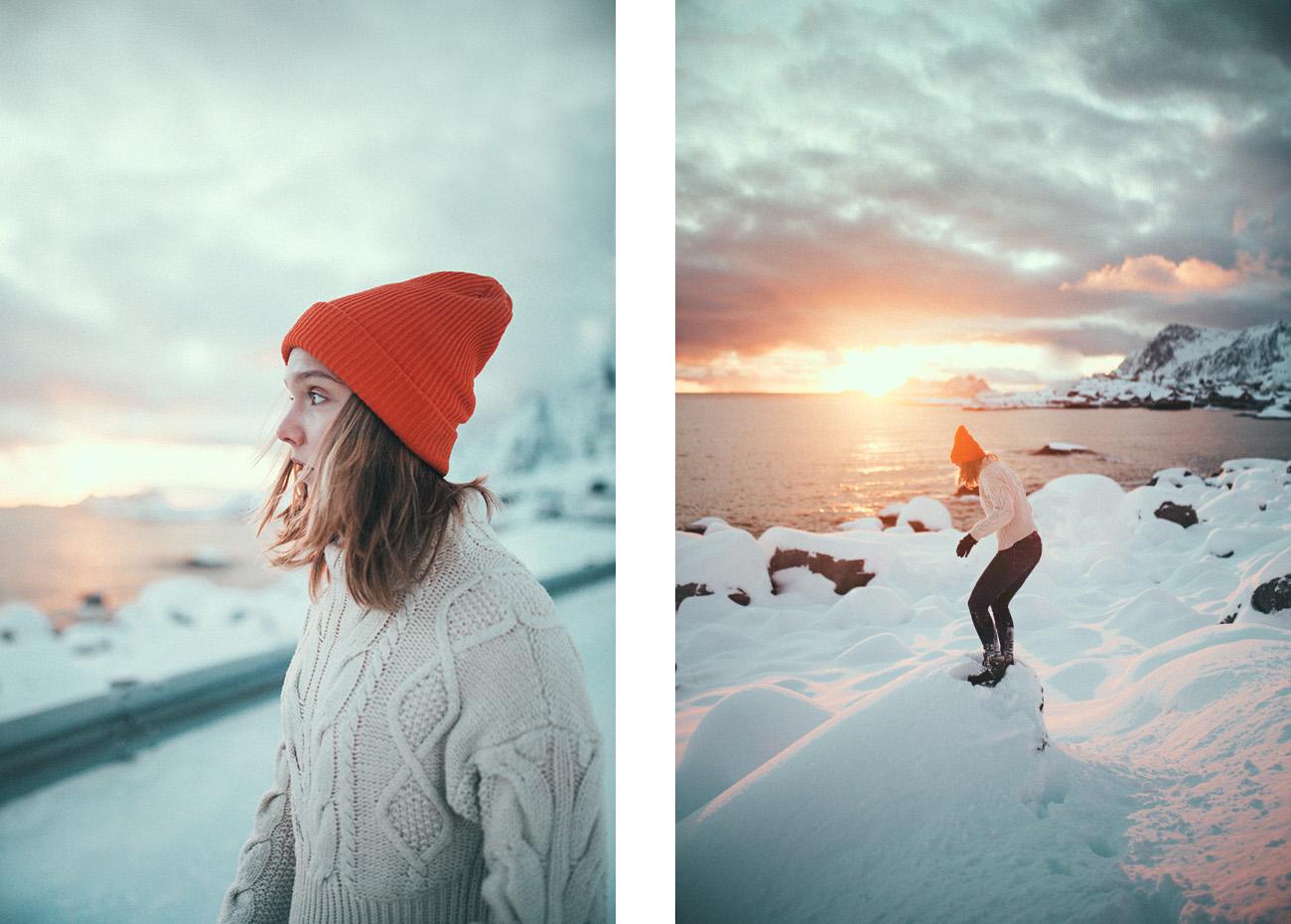 portrety, Lofoty zimą