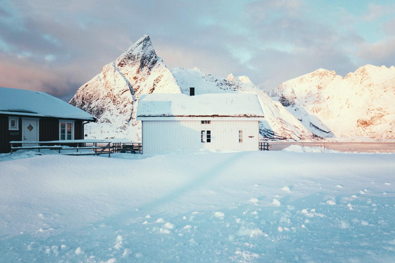 biały domek, Lofoty