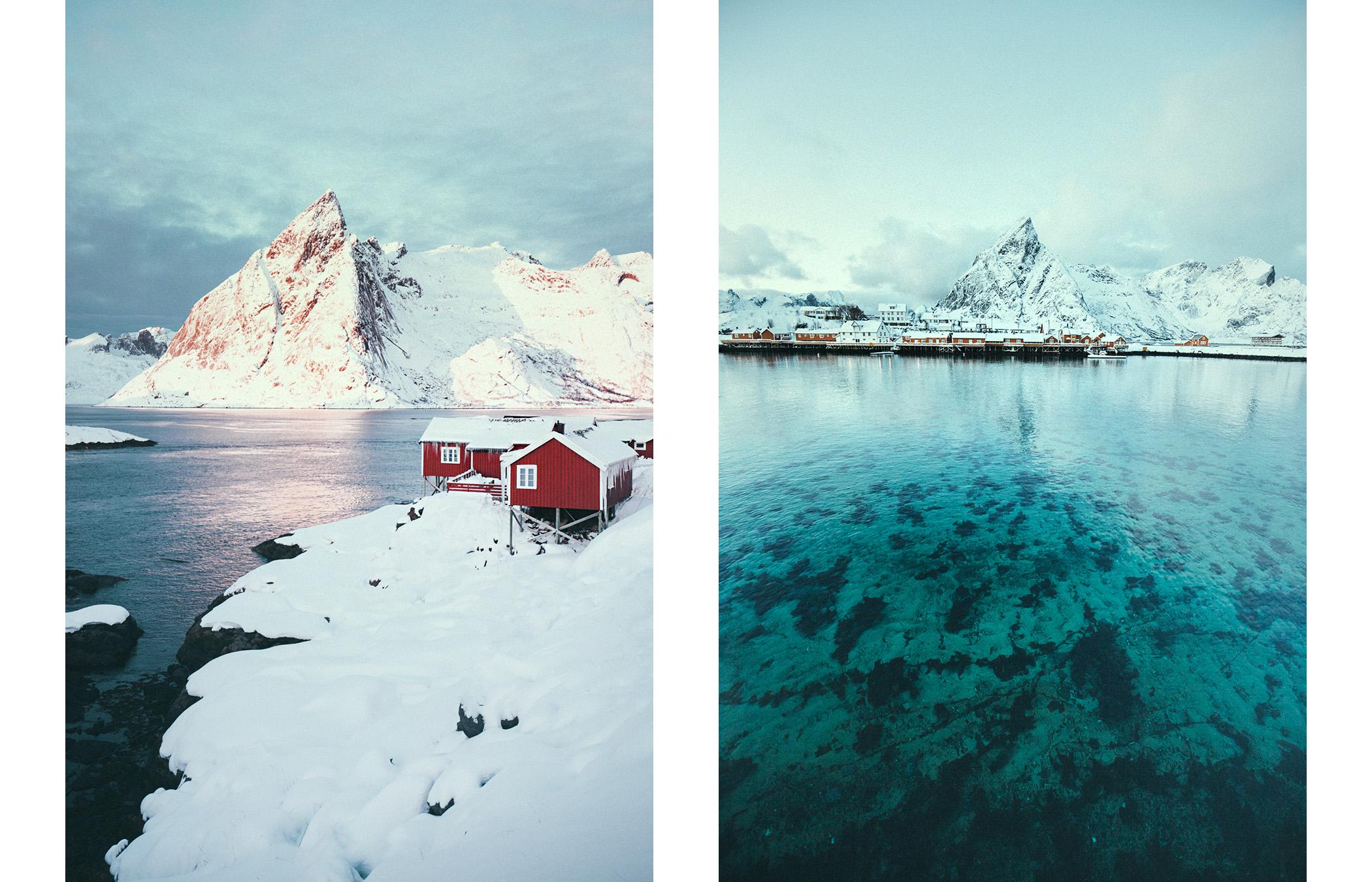 Lofoty, zima, punkty widokowe
