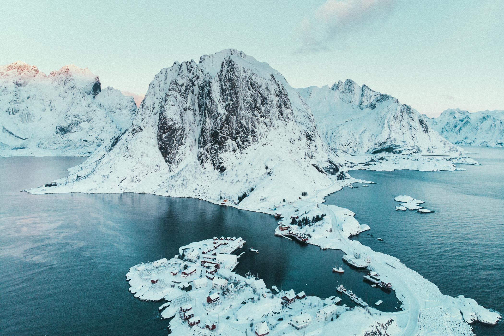 Hamnøya, z góry