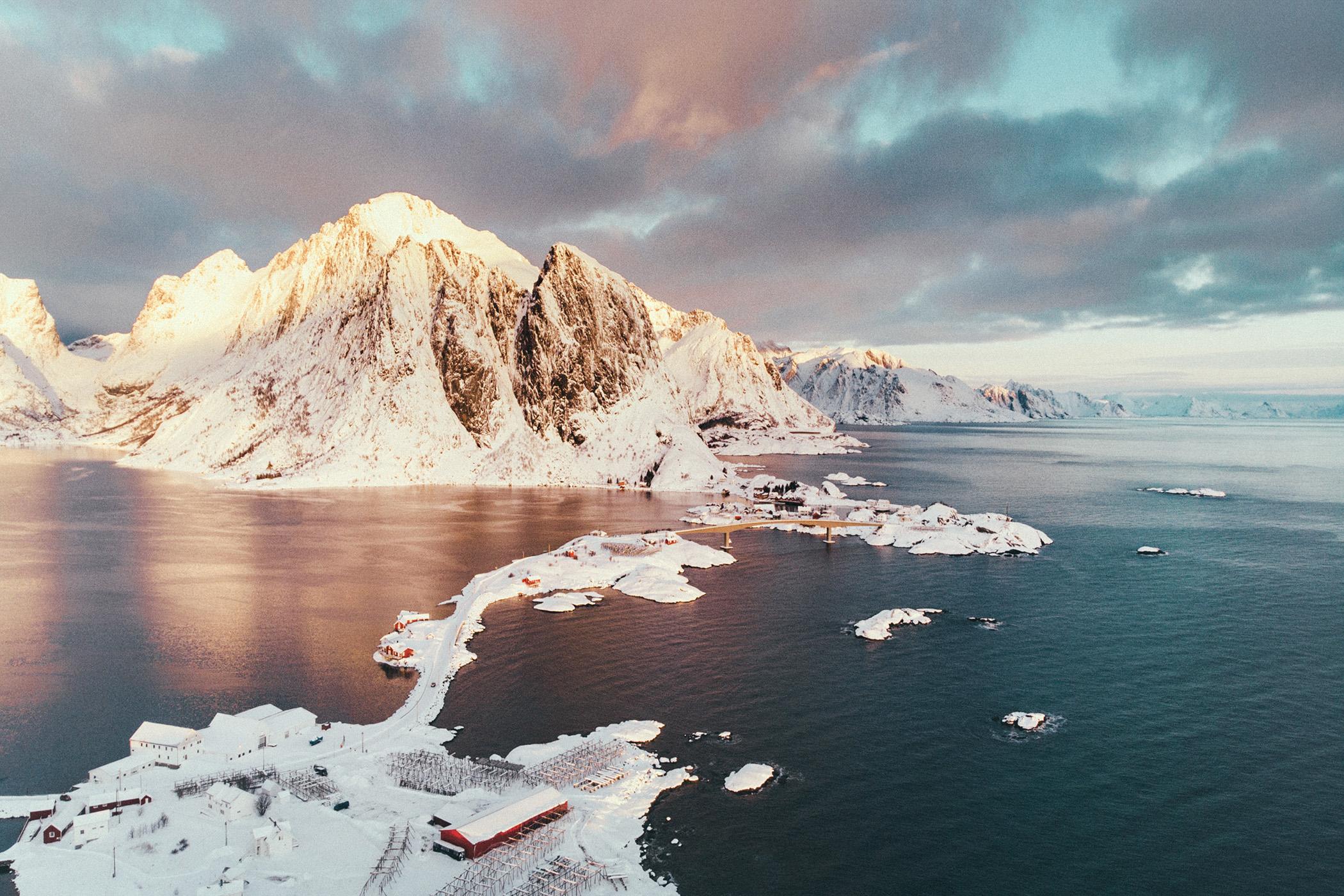 Hamnøya z góry