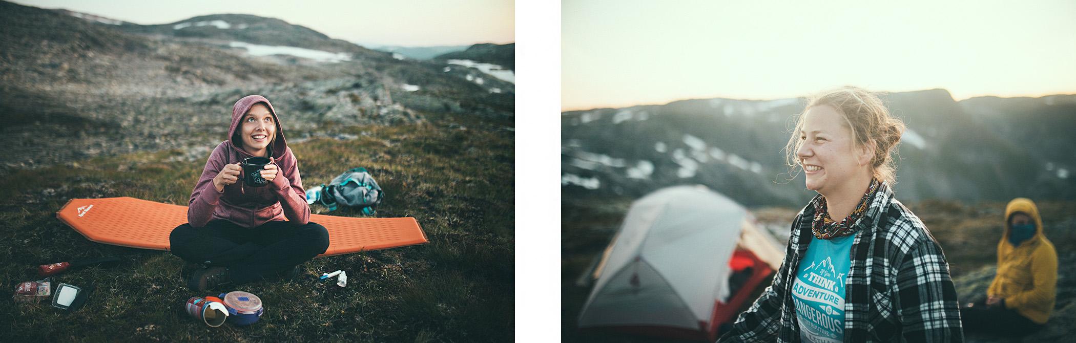 Kemping na Bakkanosi, Nærøyfjord, Norwegia