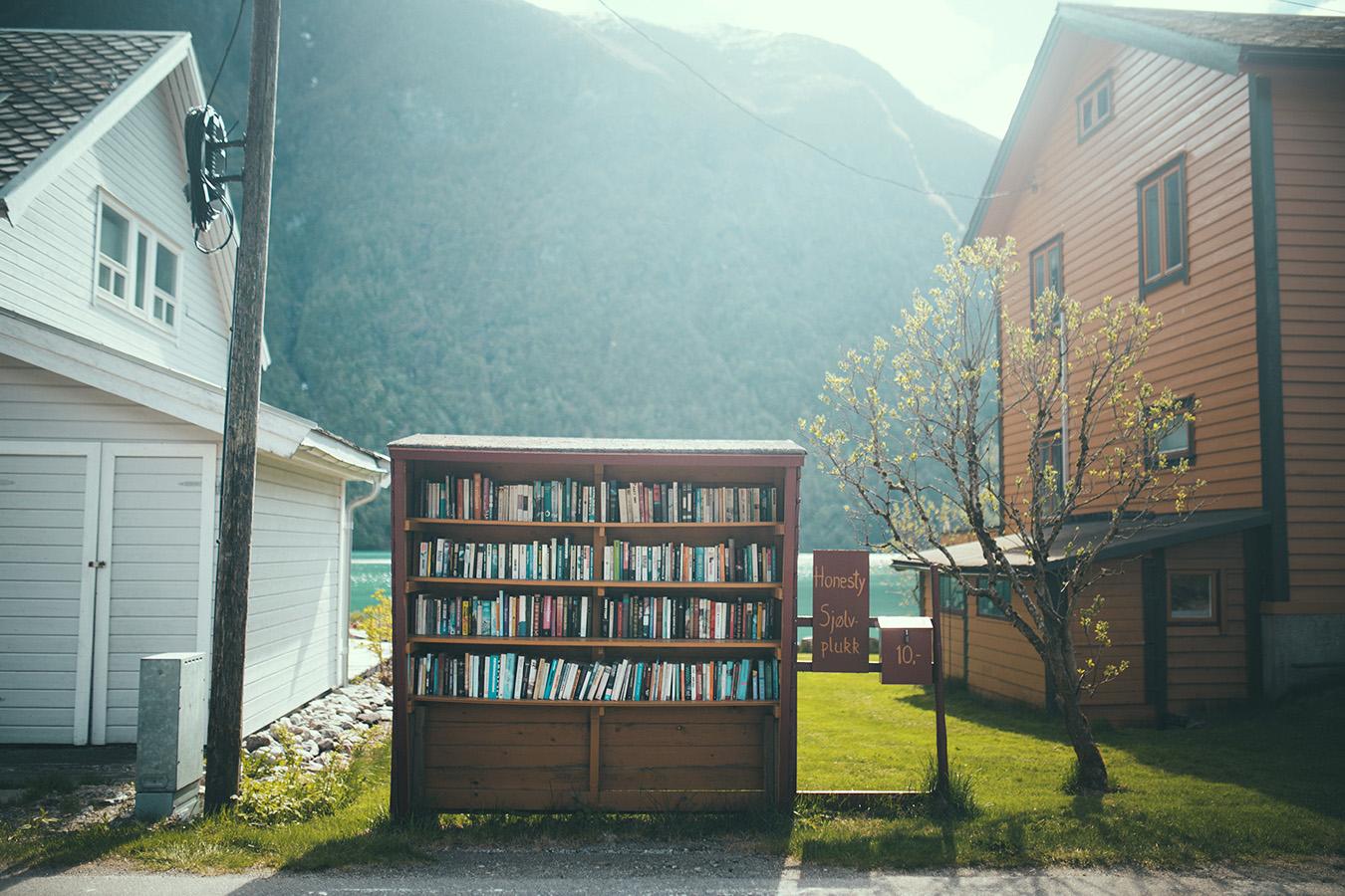Fjærland, Book Town, Norwegia