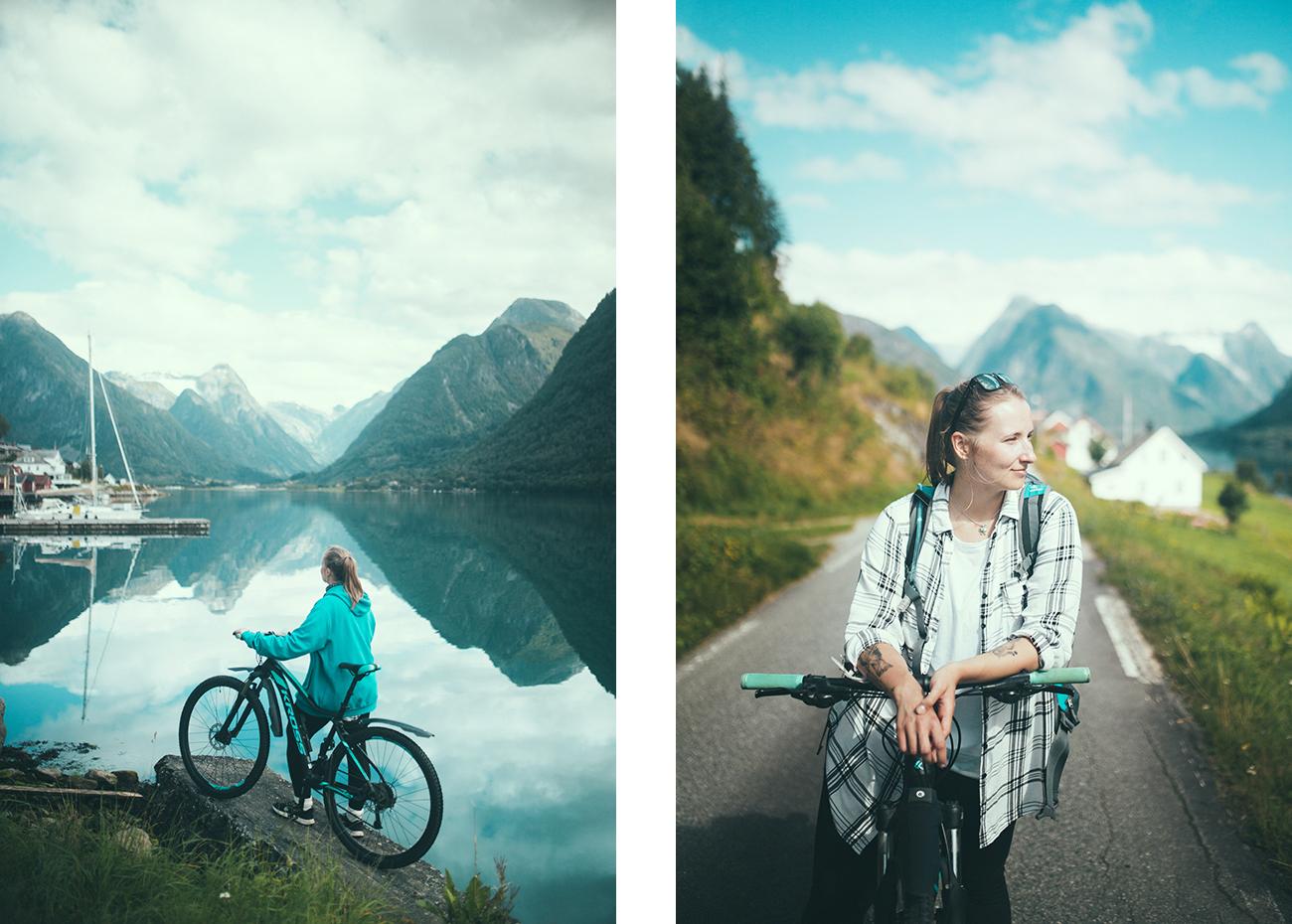 Fjærland, Kross Lea, trasy rowerowe, Norwegia