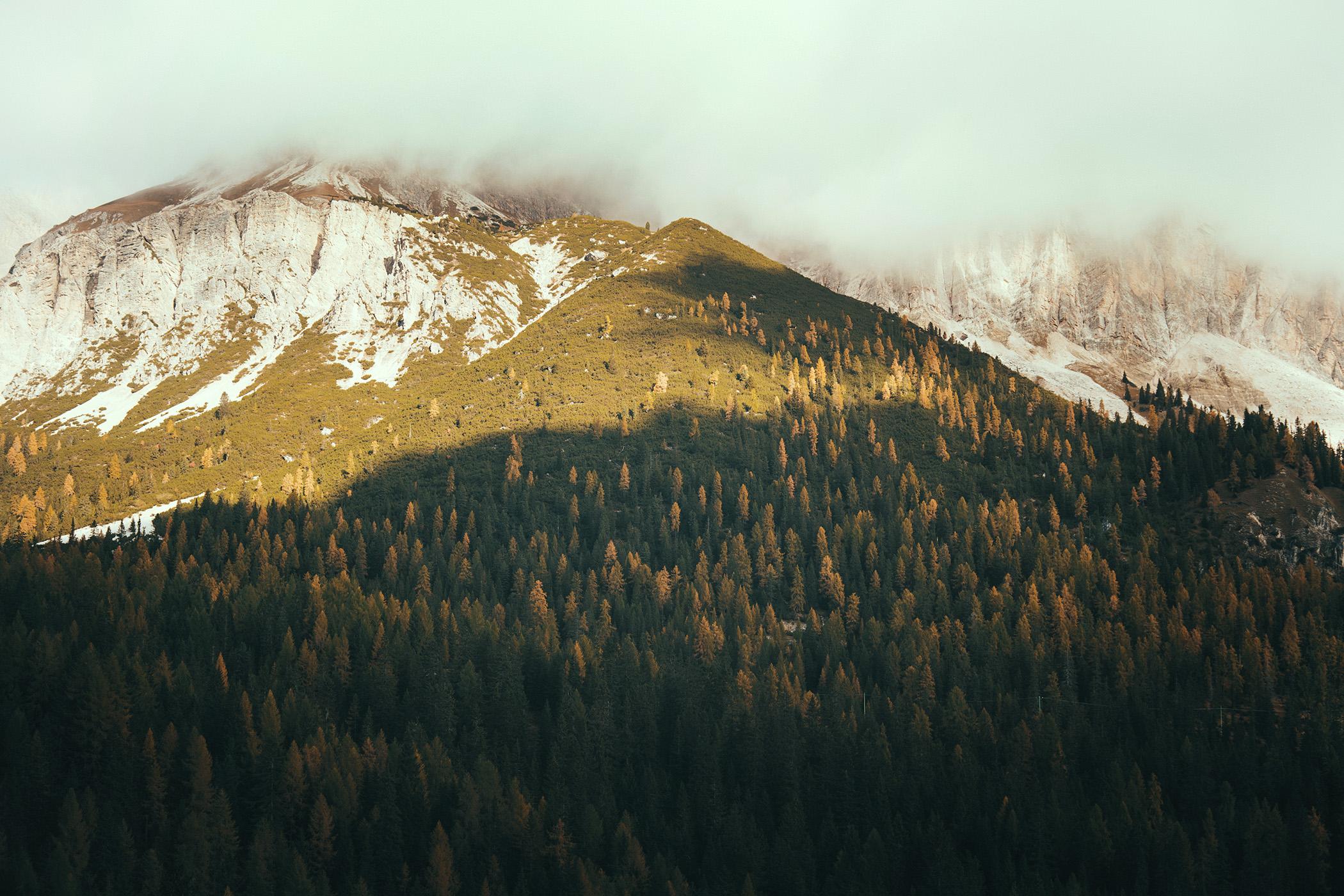 Dolomity, jesień