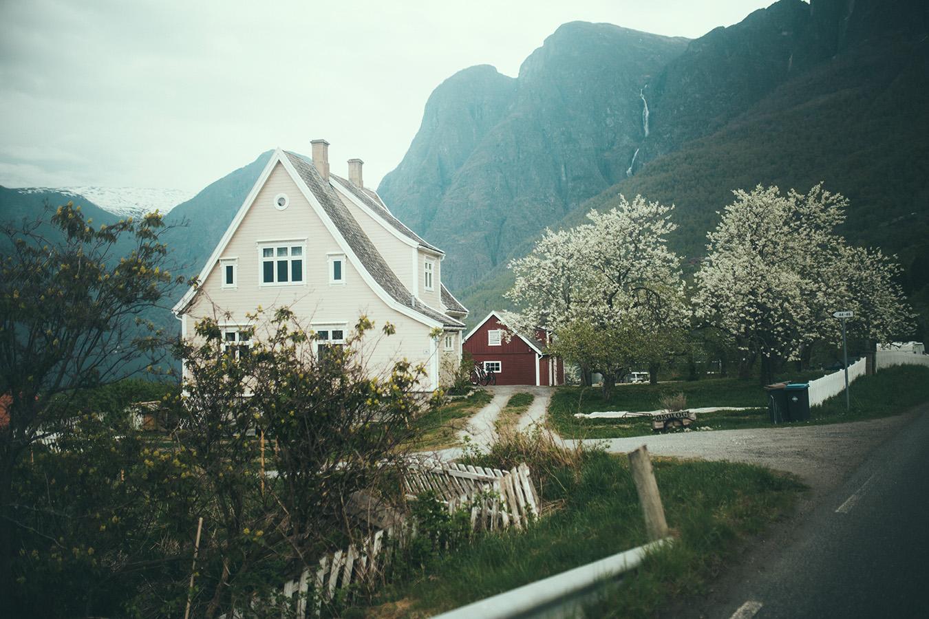 Aurland, droga na Skjerdal
