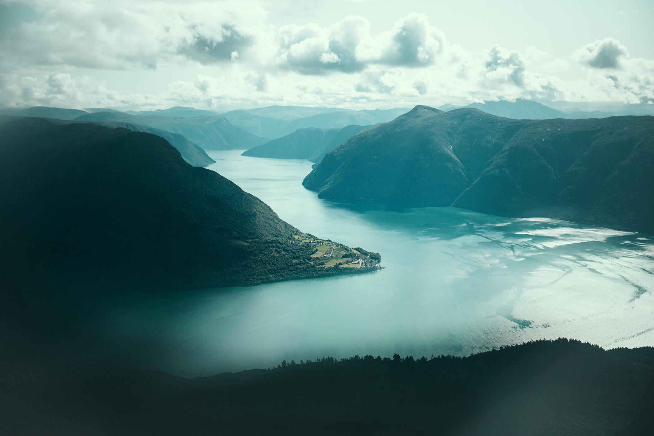 Widok na Lustrafjord