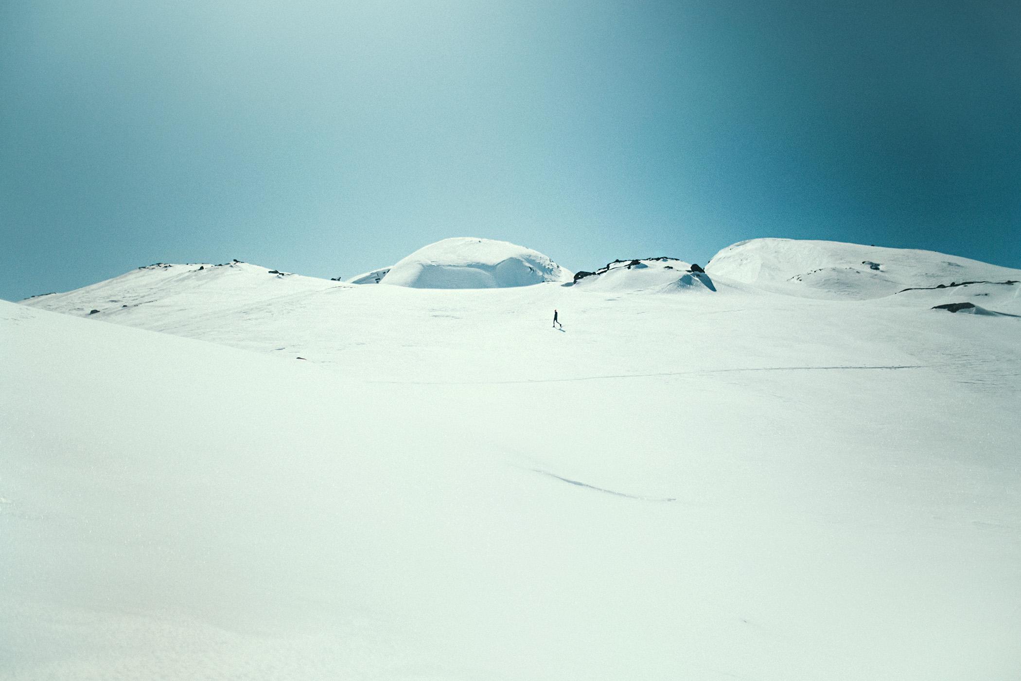 snowshoe hike, Myrdalen