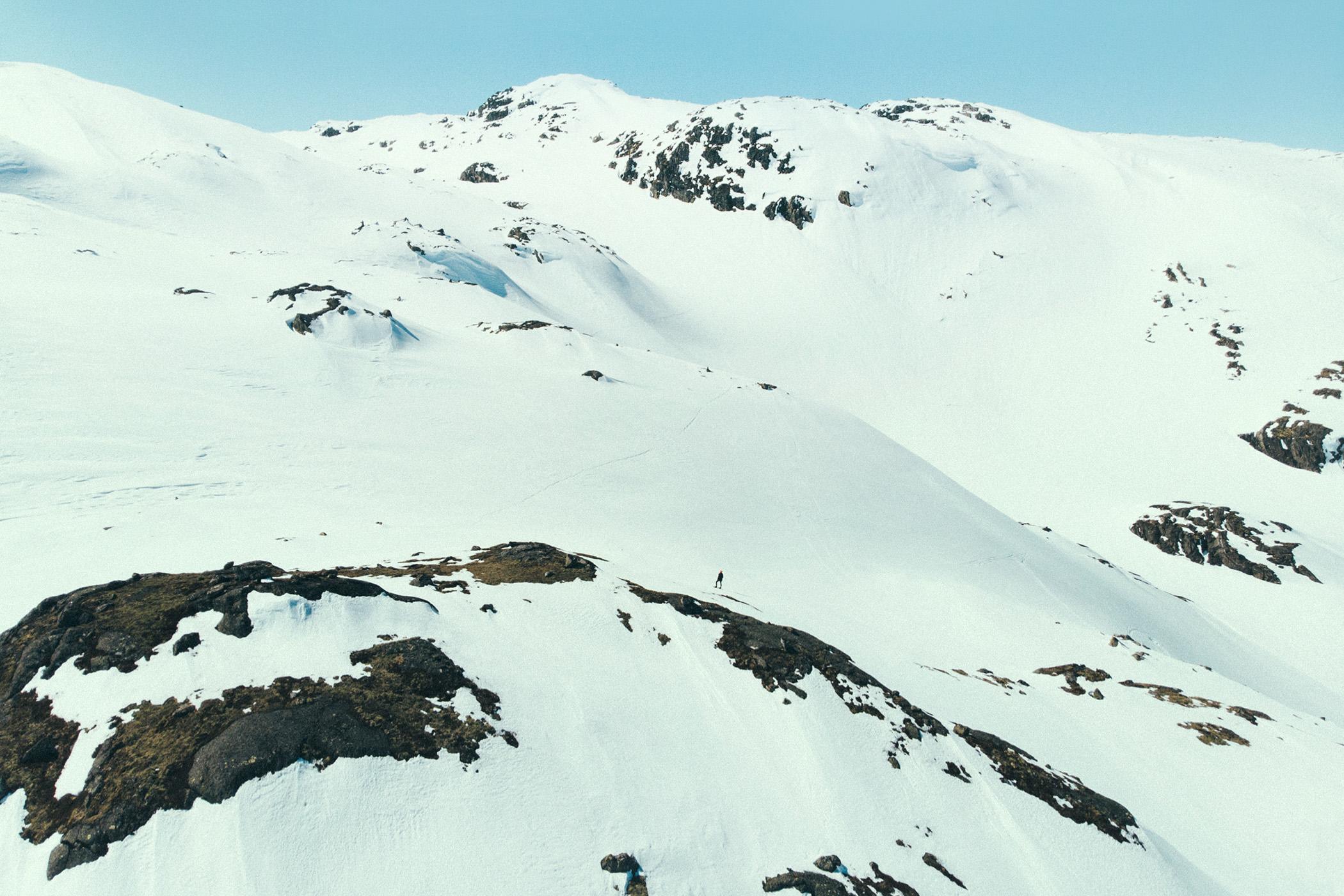 snowshoe hike, Myrdalen, góry, wiosna