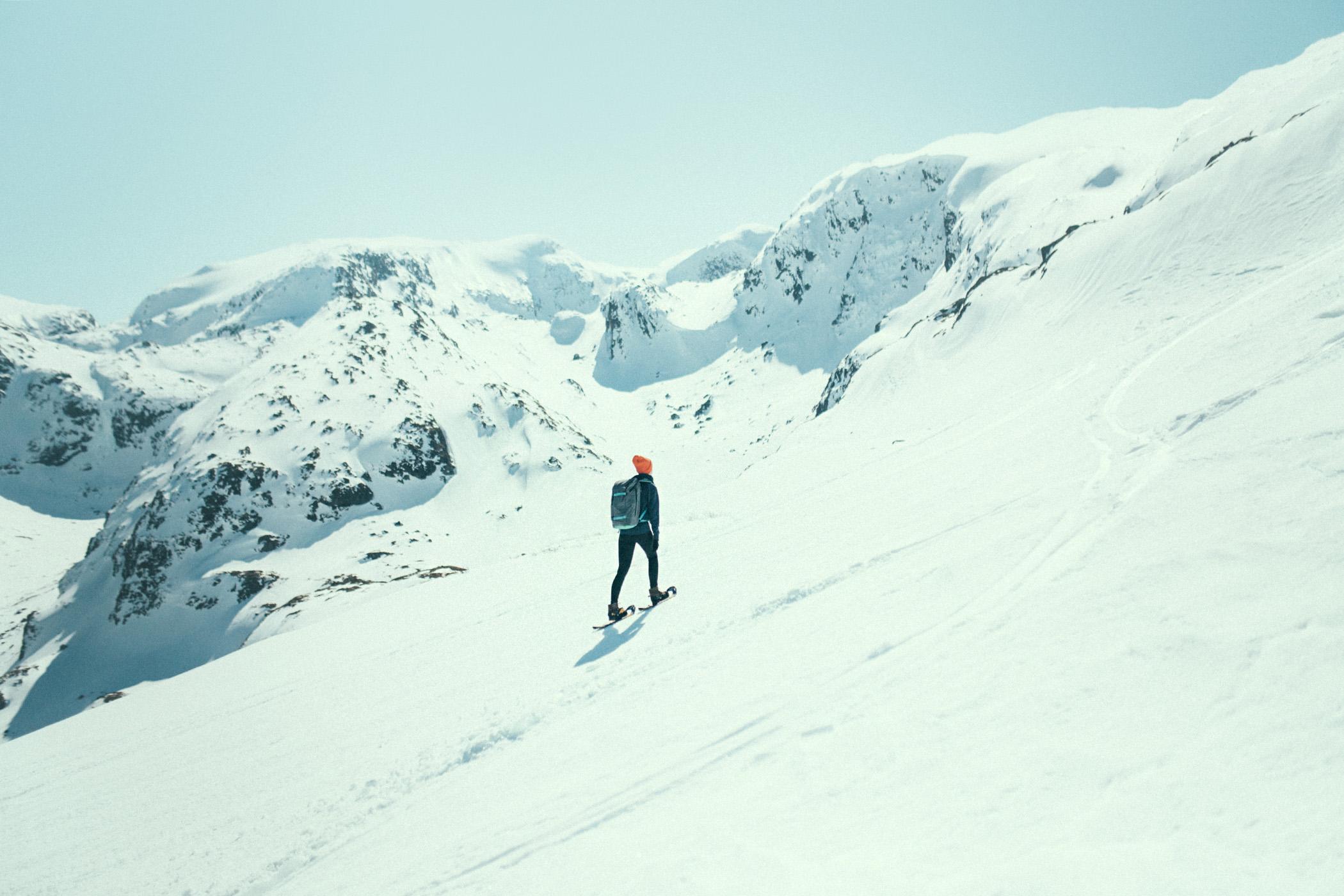 snowshoe hike, widok Myrdalen