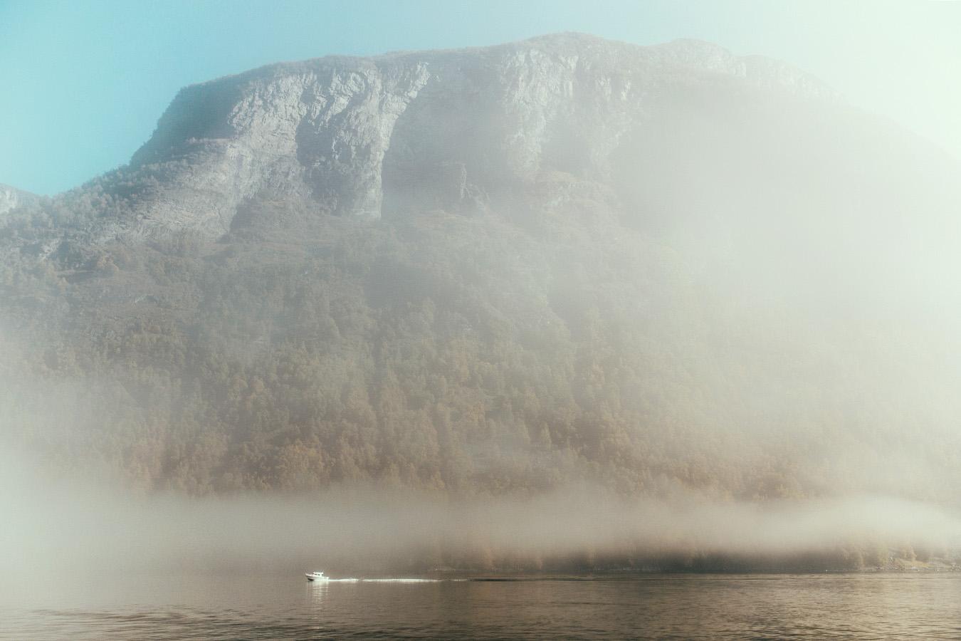 Aurlandsfjord jesienią