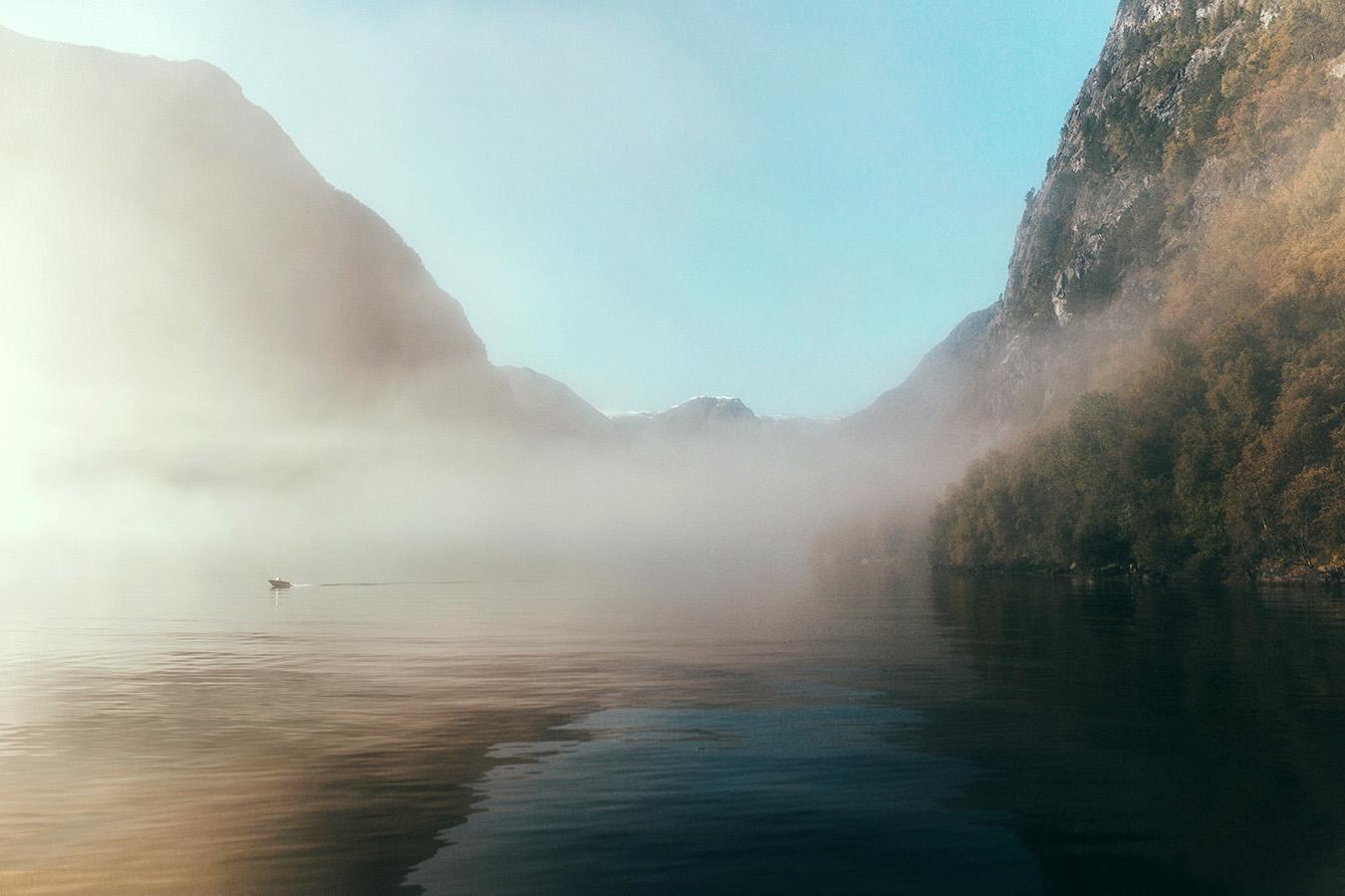 Nærøyfjord jesienią, Norwegia
