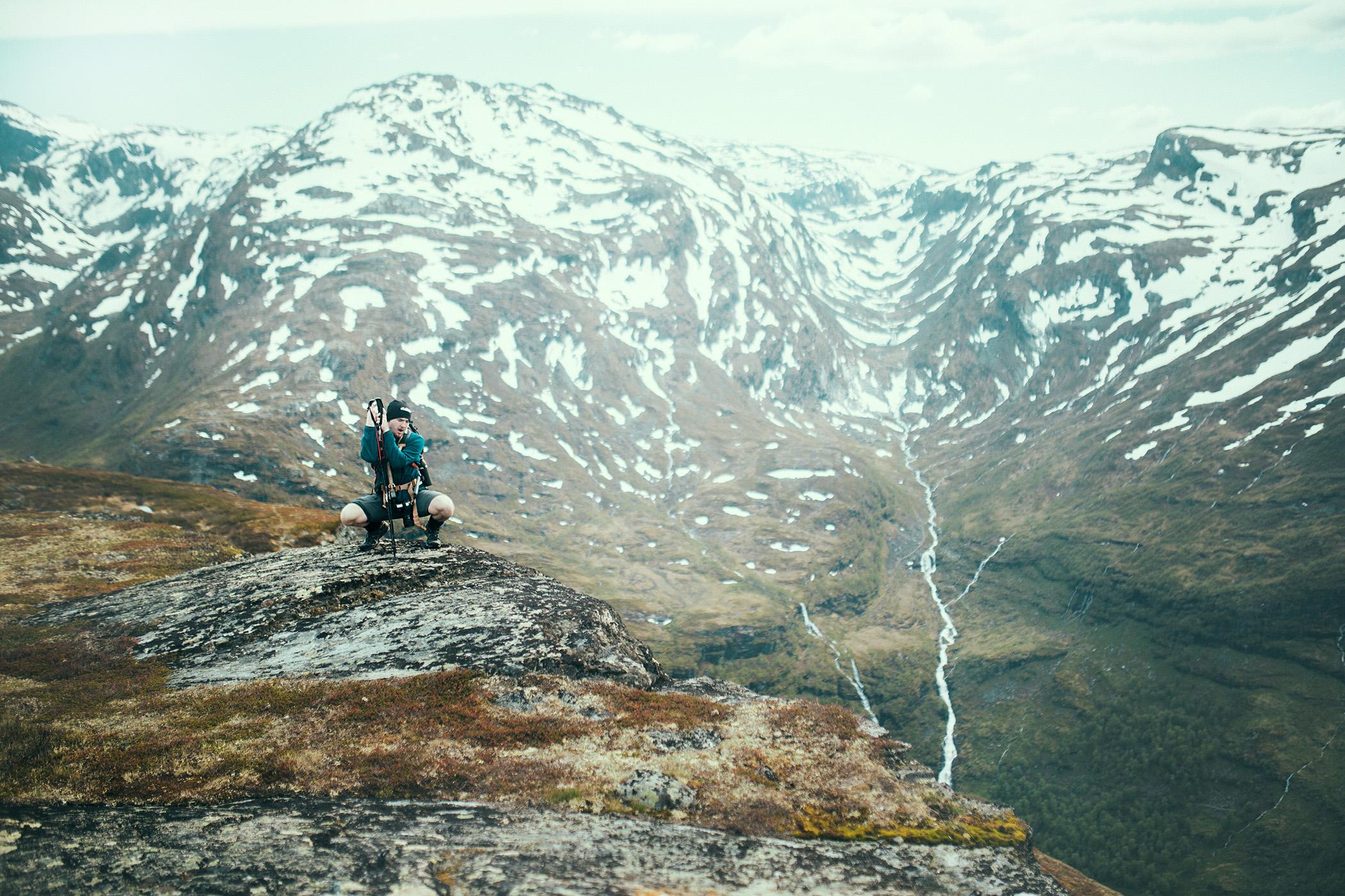 szlak, Reinunga, widok na Myrdalen