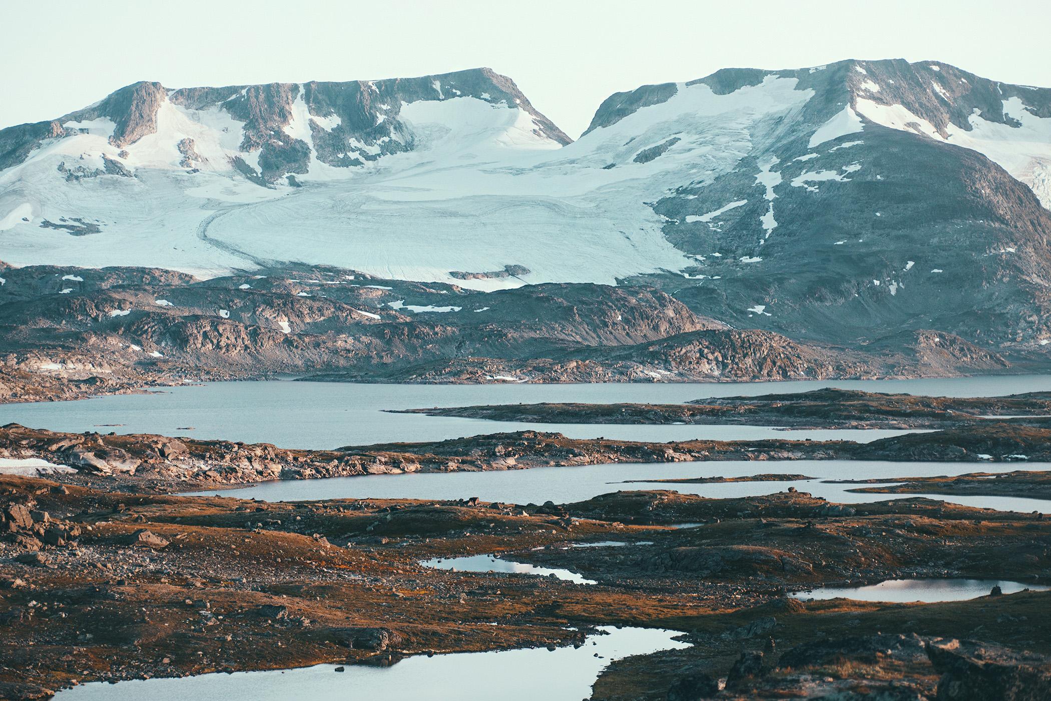 zachód, Sognefjellet
