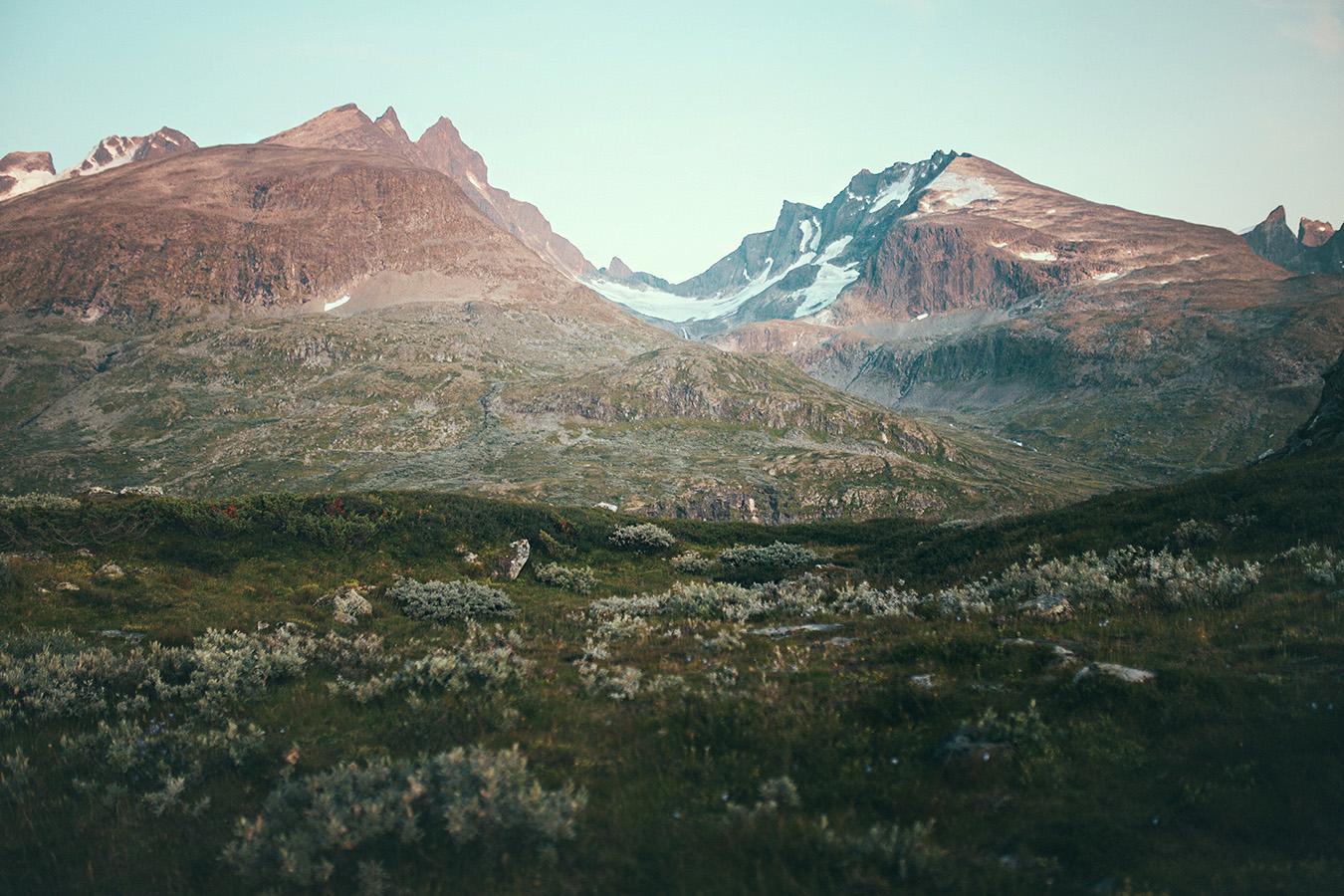 widok na Hurrungane, Sognefjellet