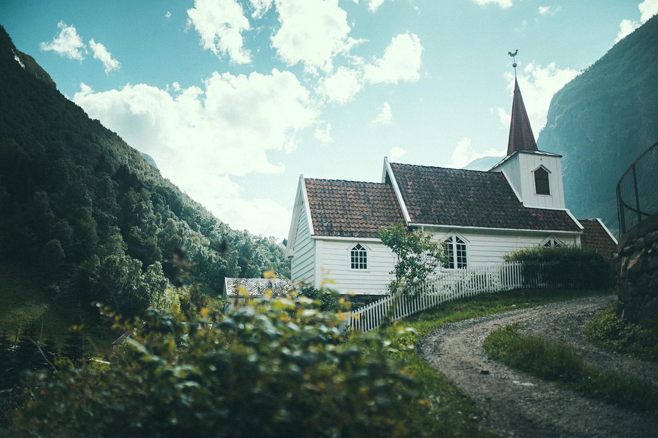 Undredal, kościół, Norwegia
