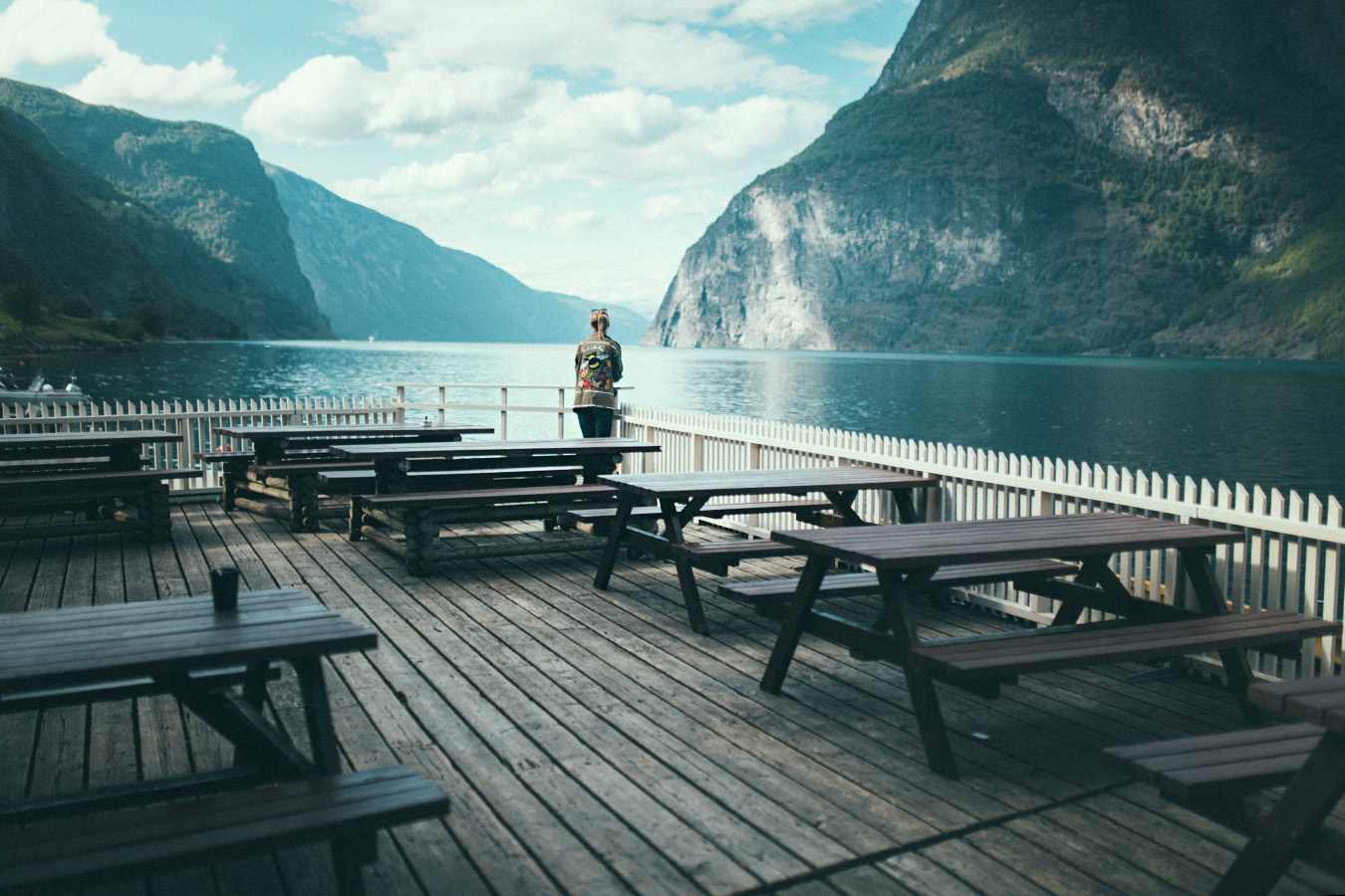kawiarnia w Undredal, Norwegia