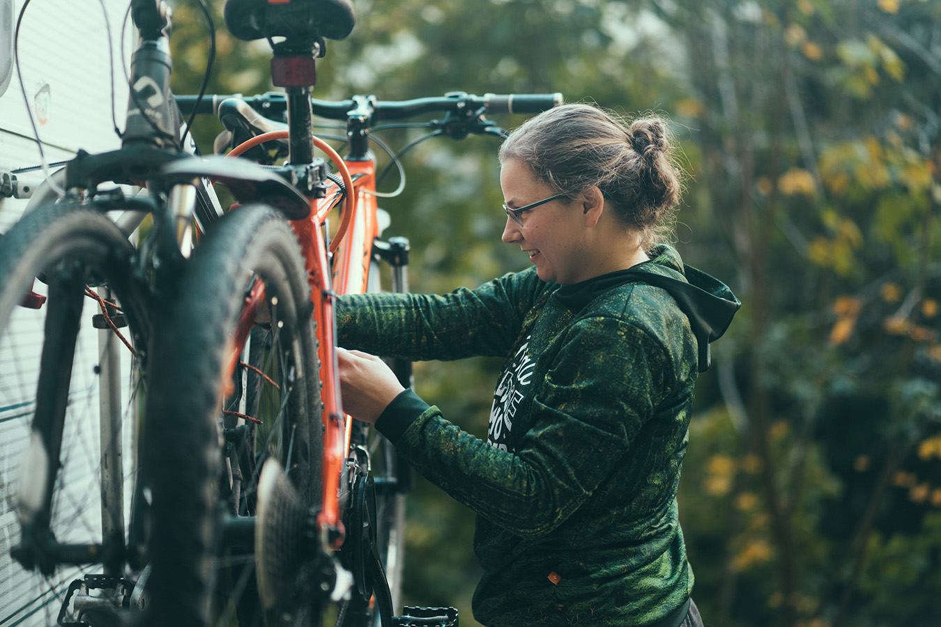 Bagażnik na rowery, kamper