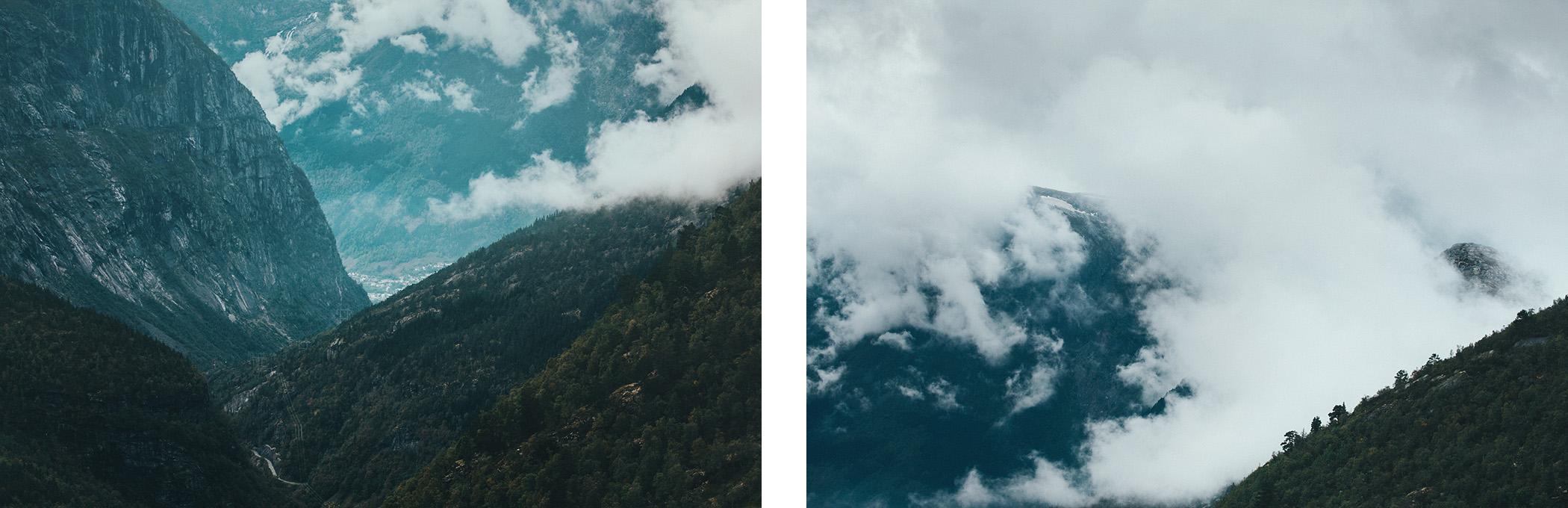 norweskie góry, widoki ze szlaku