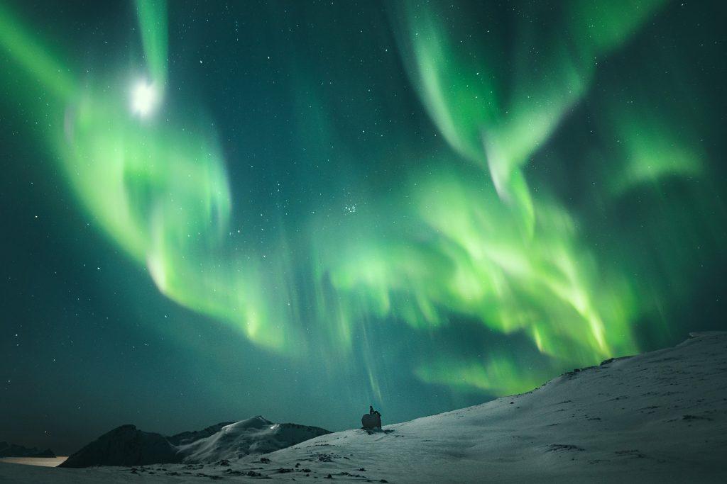 Aurora borealis, Arktyka